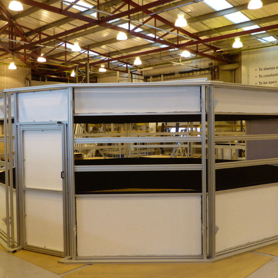 Atc simulator enclosure