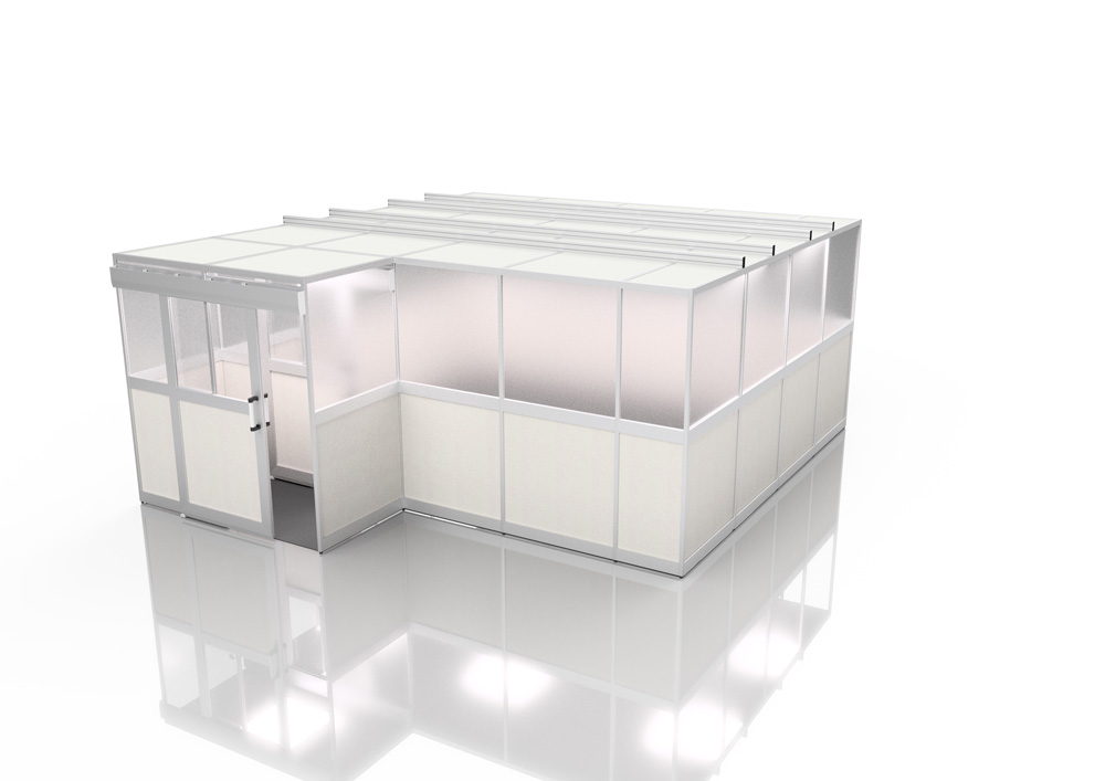 Kanya clean room render example external view large enclosure with lobby 1000px