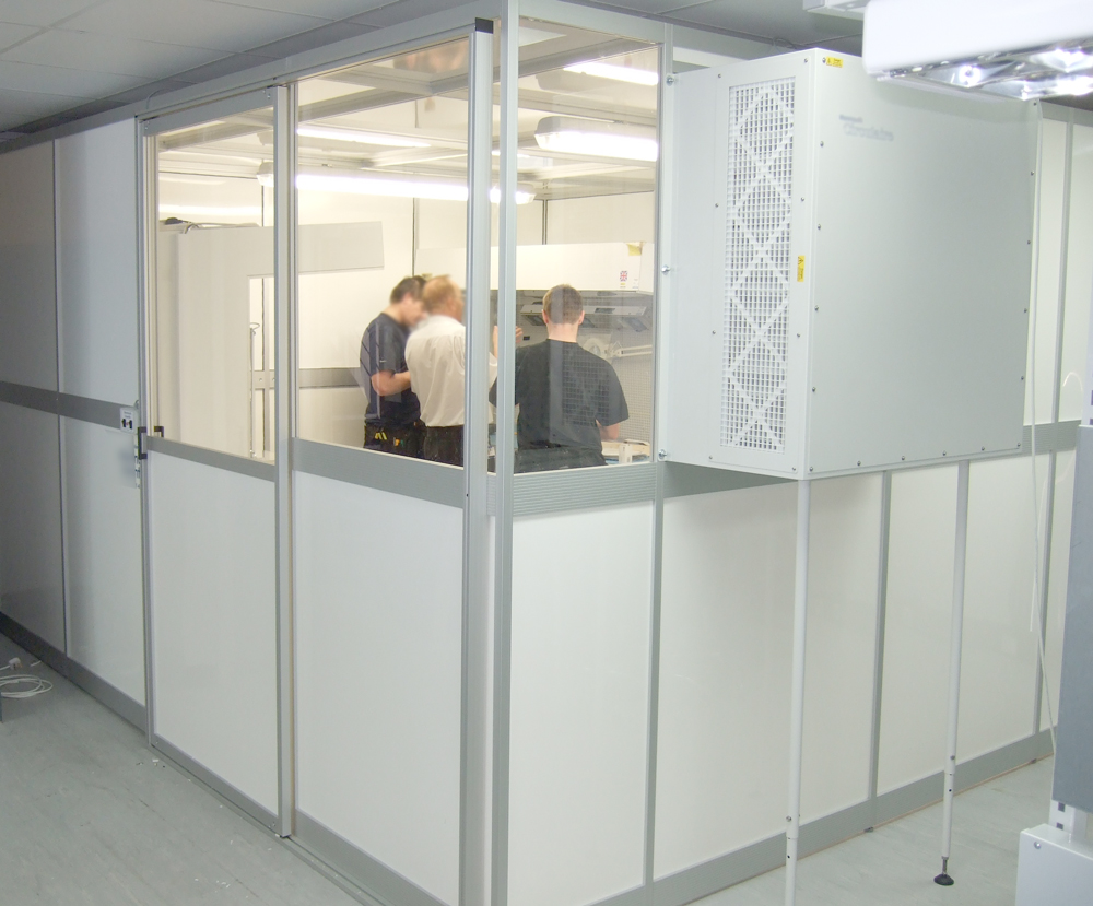 Kanya clean room site installation photo 03
