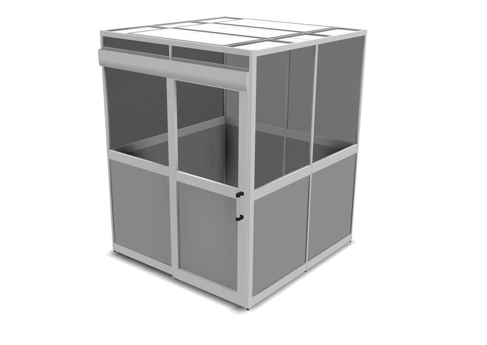 Kanya enclosure render example equipment enclosure with sliding door 1000px