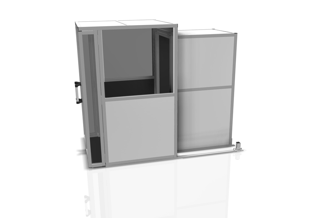Kanya enclosure render example equipment enclosure with viewing window 1000px
