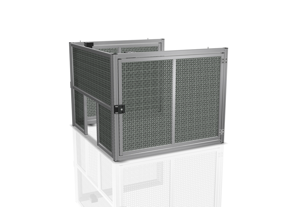 Kanya machine guard render example machine enclosure 1