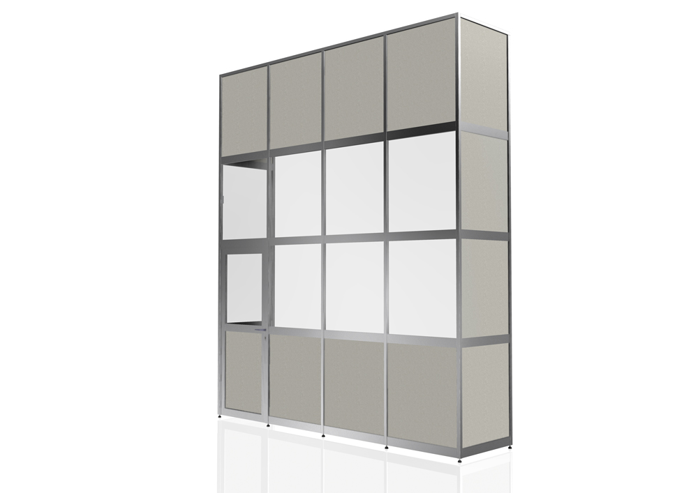 Kanya partitions render example external view full height with door