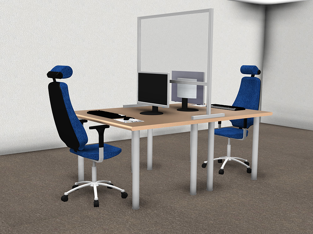Kanya partitions render example sneezeguard partition for offices and retail 1000px