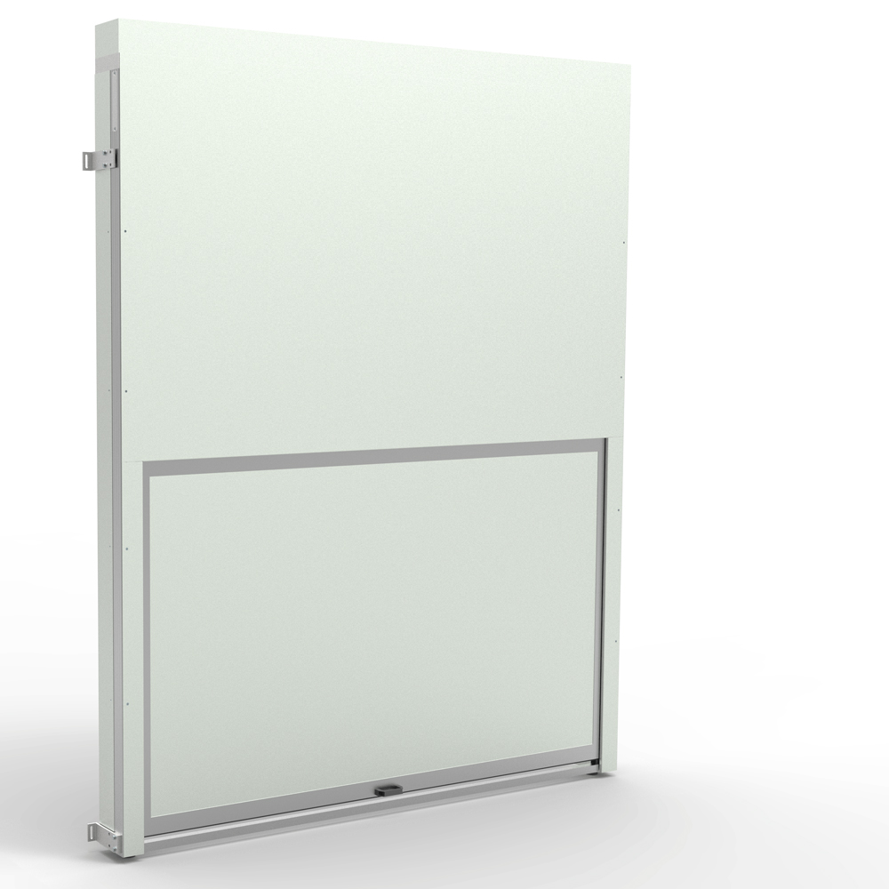 Kanya safety door render example single lifting door
