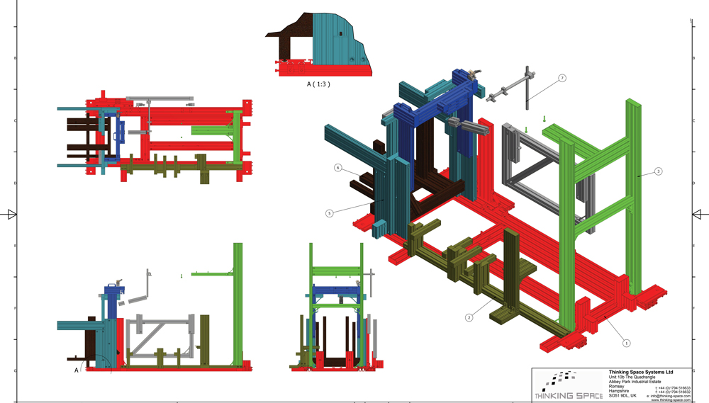 Kanya test rigs 2d technical drawing example