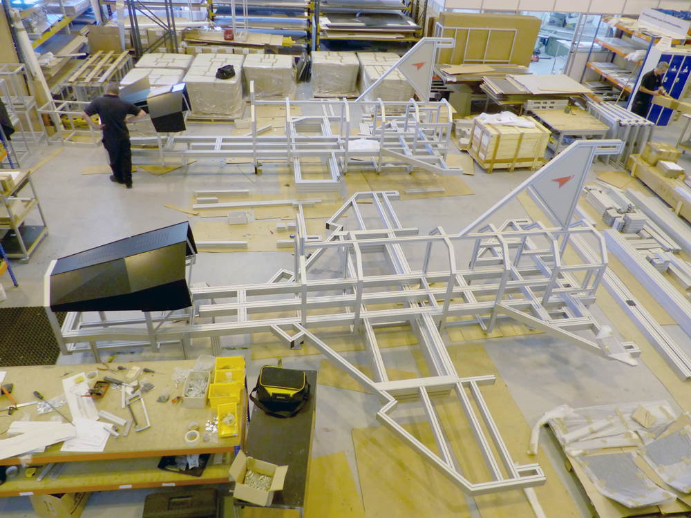 Kanya test rigs aircraft training test rig factory assembly