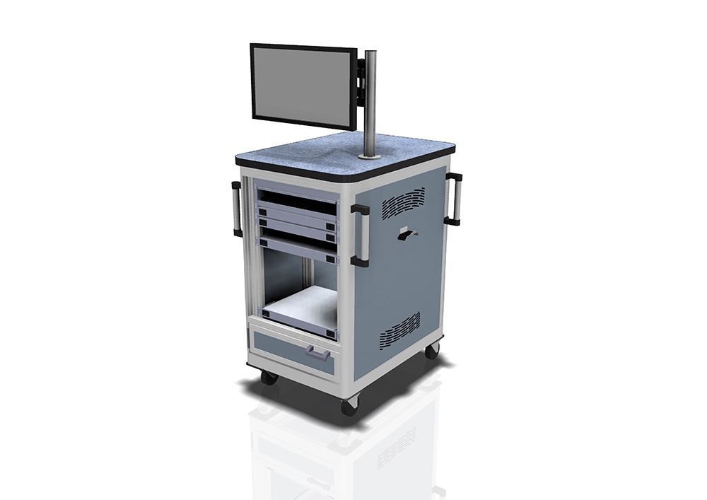 Kanya trolleys render example mobile workstation 1000px