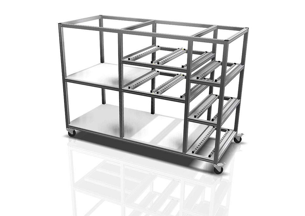 Kanya trolleys render example packing trolley 1000px
