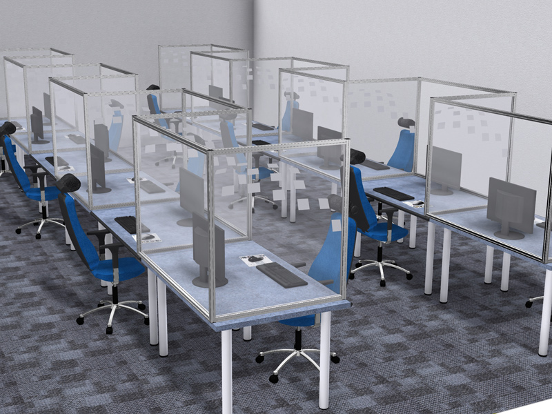 Kanya Office Partitions Using Polycarbonate Infill Panels Every Other