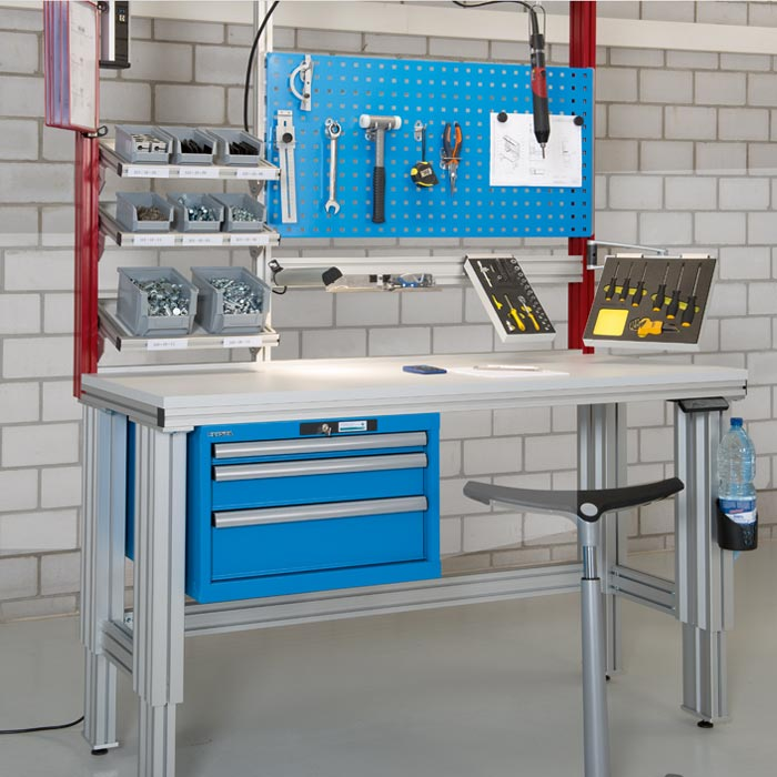 Kanya Bespoke Workbenches Height Adjustable Assembly Line Benching